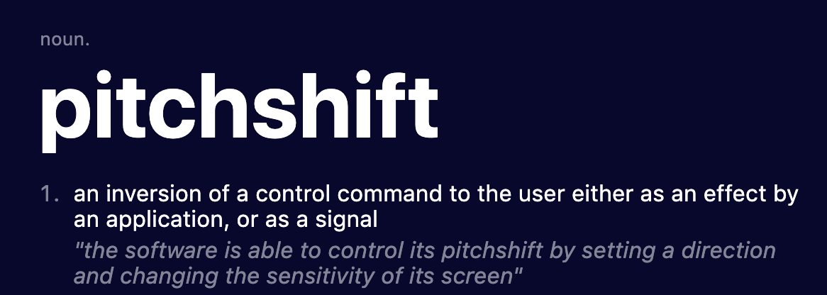 The pitchshift maneuver